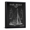Blackboard Patent - Sail Boat | Framed Canvas