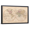 Vintage Map of the World IV | Single Rectangle Canvas