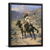 An Indian Trapper | Single Rectangle Canvas