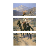 An Indian Trapper | 3-Piece Rectangle Canvas
