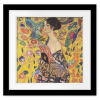 Lady with Fan | Square Print with mat