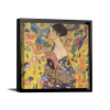 Lady with Fan | Single Square Canvas