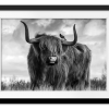 A Bull | Rectangle print with mat