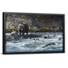 Along The Yellowstone - Grizzly   Single Rectangle Canvas