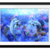 Dolphin Dance | Rectangle print with mat