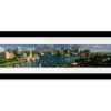 Harbor, City And Bridge | Panaromic Print with mat