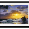 Beach at Sunrise   Rectangle print with mat