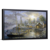 Harbor Town | Single Rectangle Canvas