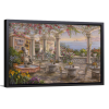 Dining on the Terrace | Single Rectangle Canvas