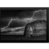BW Lightning at MR | Rectangle Print