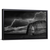 BW Lightning at MR | Single Rectangle Canvas