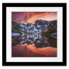 Indian Peaks Reflection | Square Print with mat