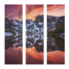 Indian Peaks Reflection | 3-Piece Square Canvas