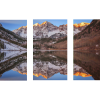 Maroon Bells Alpenglow | 3-Piece Rectangle Canvas