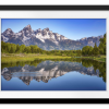 Ripples in the Tetons   Rectangle print with mat