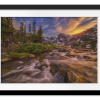 Indian Peaks Sunset | Rectangle print with mat