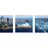 Aerial View Sydney, Australia | 3-Piece Panaromic Canvas