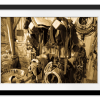Horse Tack Room on Centennial Ranch | Rectangle print with mat
