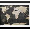 Rectangle print with mat   Vintage World Map