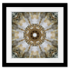 Kaleidoscope Honey Gray Agate  Square Print with mat