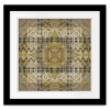 Kaleidoscope Tribal  Square Print with mat