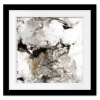 Marble Onyx II  Square Print with mat