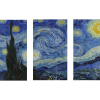 The Starry Night | 3-Piece Rectangle Canvas