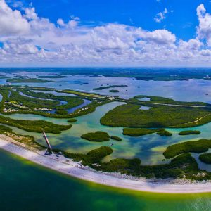 Aerial view of Carl E. Johnson State Park, FL