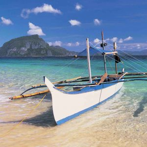 Fishing Boat moored on Beach, Philippines