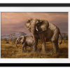 Mother and Child (Elephants) | Rectangle print with mat