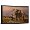 Mother and Child (Elephants) | Single Rectangle Canvas