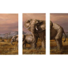 Mother and Child (Elephants) | 3-Piece Rectangle Canvas