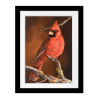 Winter's Perch 1 | Rectangle print with mat