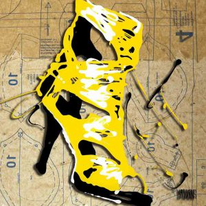 Yellow Strap Heel