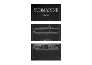 Blackboard Patent - Submarine 3-Piece Canvas