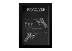 Blackboard Patent - Beaumont Revolver Framed Print
