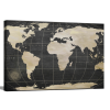 Vintage World Map  1.5 inch gallery wrap