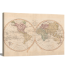 Vintage Map of the World IV | 1.5 inch gallery wrap
