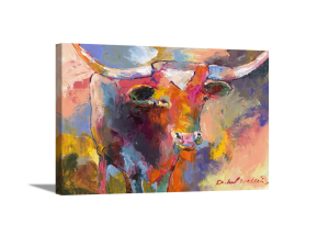 Abstract Steer Canvas