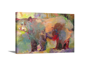 Abstract Bear Canvas