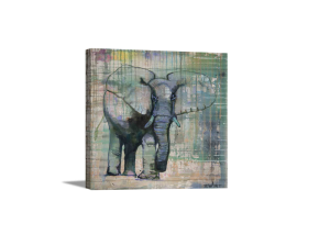 Elephant in Charge Canvas